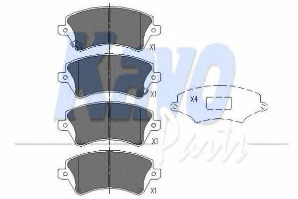KBP9012 Колодки тормозные TOYOTA COROLLA (E12) 1.4/1.6/1.8/2.0 0002/02 передние