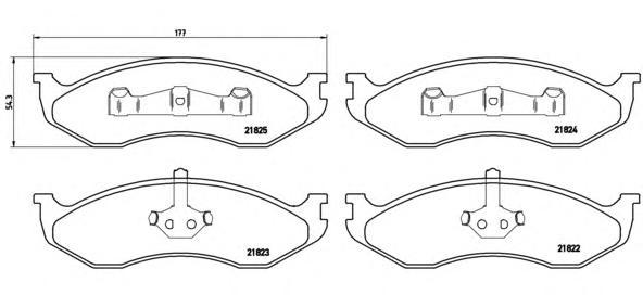P37004 Колодки тормозные JEEP GRAND CHEROKEE/CHEROKEE/KIA CARNIVAL -01 передние