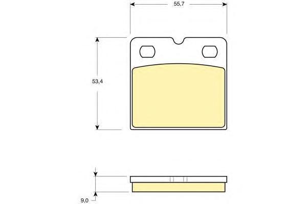 6116419 Колодки тормозные JAGUAR S-TYPE 02-07/XK 06- задние