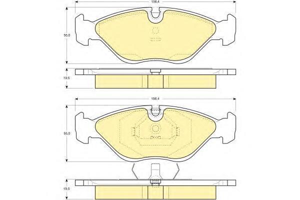 6109692 Колодки тормозные SAAB 900/9000 2.0-3.0 89-98 передние