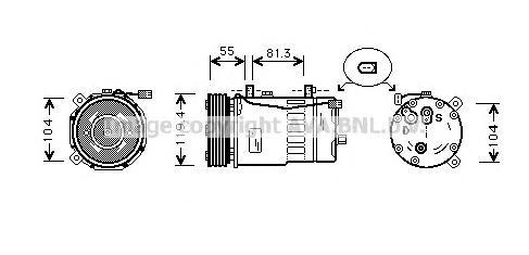 AIAK003 Компрессор кондиционера AUDI: A3 (8L1) 1.6/1.8/1.8 T/1.8 T QUATTRO/1.9 TDI/1.9 TDI QUATTRO/S3 QUATTRO 96-03, TT (8N3) 1.