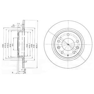BG3875 Диск тормозной Re Mazda 6, 626, 323