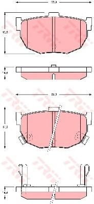 GDB3368 Колодки тормозные HYUNDAI ELANTRA 00-/LANTRA 90-00/KIA CERATO 04- задние