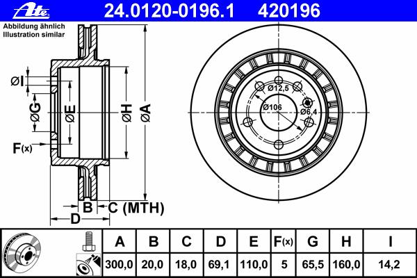 24012001961 Диск тормозной задн, SAAB: 9-5 2.3 Turbo/3.0 TiD/3.0 V6t 97-, 9-5 универсал 2.3 Turbo/3.0 TiD/3.0 V6t 98-