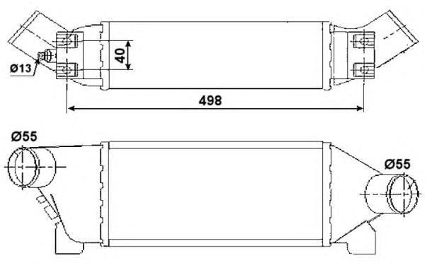 30259 Интеркулер FO Tr 2,4D 00-06 МКПП