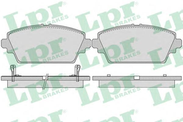 05P1036 Колодки тормозные дисковые передн HONDA: ACCORD VII 98-02, ACCORD VII купе 98-03,  MG: MG ZR 01-
