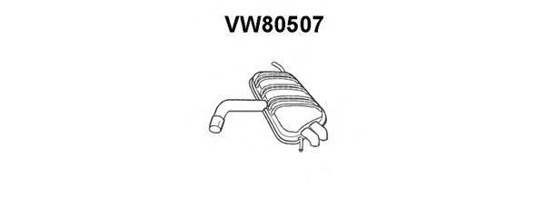 vw80507 ГЛУШ.ЗАД.Ч.GOLFV/GOLFVPLUS2.0TDIH/MPV10/03-