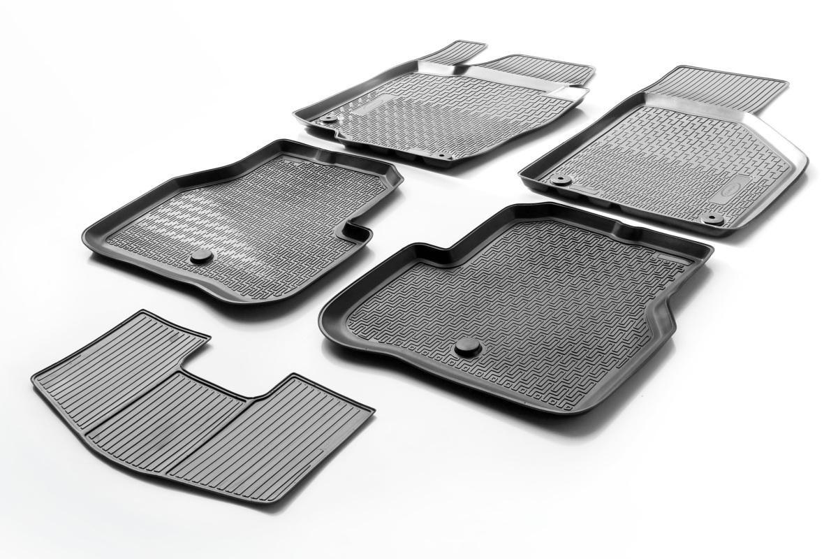 0015803001 Комплект автомобильных ковриков Volkswagen Passat B7 2010-2015 , полиуретан, низкий борт, 5 предметов, крепеж для пер