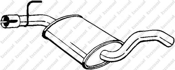 233693 Резонатор VW GOLF/VENTO 1.8/1.9TD 91-00