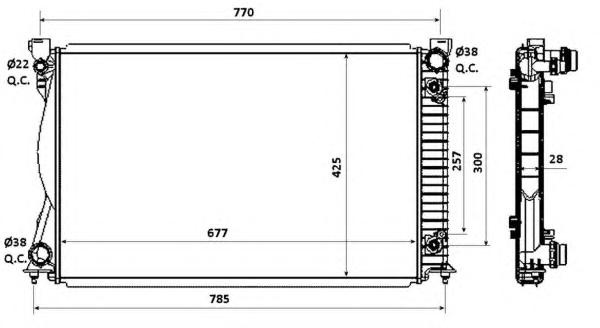 58360 Радиатор VAG A6 04-11