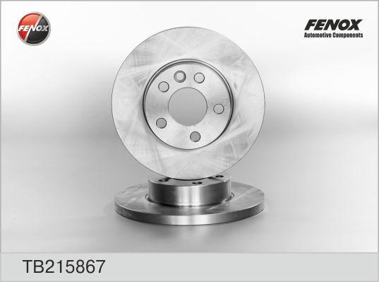 TB215867 Диск тормозной VW TRANSPORTER IV 1.9-2.8 90-03 передний D=282мм.