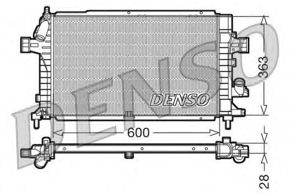 DRM20100 Радиатор системы охлаждения OPEL: ASTRA H 1.3 CDTI/1.7 CDTI/1.9 CDTI/1.9 CDTI 16V/2.0 Turbo 04 - , ASTRA H GTC 1.3 CDTI
