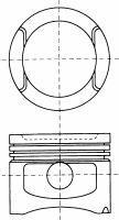 8750180710 Поршень комплект AUDI 80/100/A4/A6/A8 2,8 -97 0,5mm