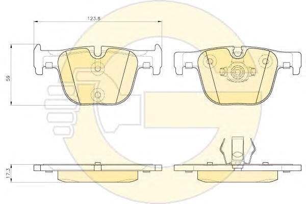 6119372 Колодки тормозные BMW 3 F30/31/34/35/80 11-/4 F32/33/36/82/83 12- задние
