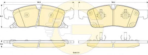 6146032 Колодки тормозные JEEP GRAND CHEROKEE IV 10- передние