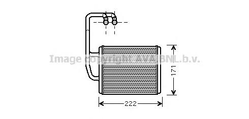 KA6076 Радиатор отопителя KIA CERATO 1.5-2.0 04-