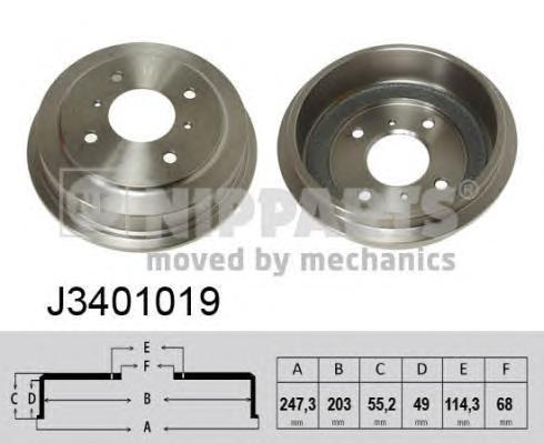 J3401019 Барабан тормозной NISSAN PRIMERA -02