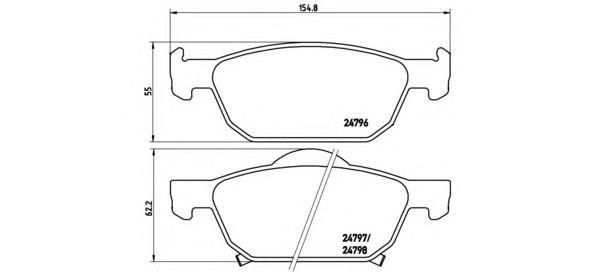 P28044 Колодки тормозные HONDA ACCORD 2.0-2.4 08- передние