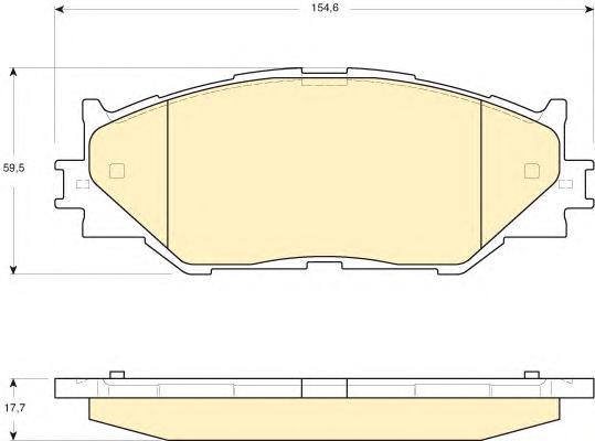 6134109 Колодки тормозные LEXUS IS220/IS250 05- передние