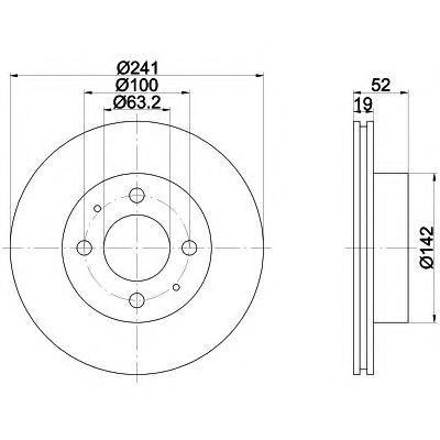 8DD355110641 Диск тормозной HYUNDAI ACCENT (LC) 00-06 передний вент.