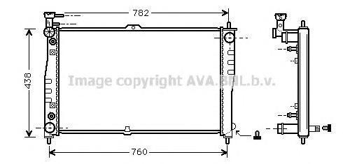 KA2021 Радиатор системы охлаждения KIA: CARNIVAL (UP) 2.5 V6 99 - 01 , CARNIVAL II 2.5 V6 01 -