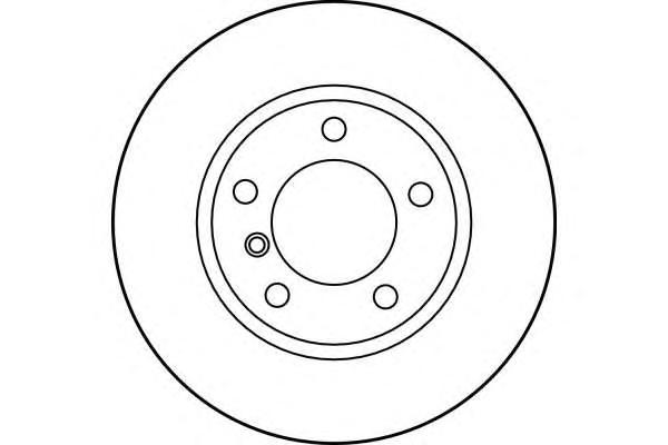 6015381 Диск тормозной BMW E36 318-328 90-98/E46 316-323 98-05 передний D=286мм.