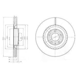 BG9003 Диск тормозной AUDI A4 S4 2.0/4.2 quattro 03-09 передний D=345мм.