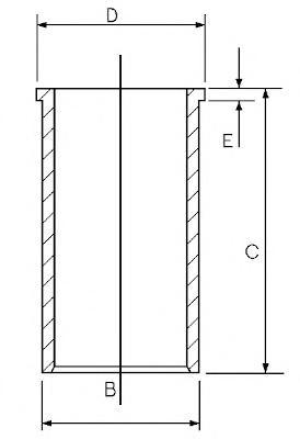 1402548000 Гильза блока цилиндров MB 190(W201)/E(W124) 2,0