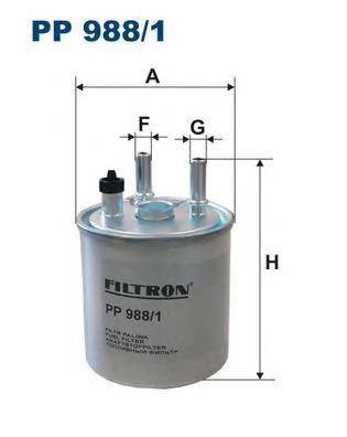 PP9881 Фильтр топливный RENAULT KANGOO/LAGUNA 1.5D/2.0D 07-