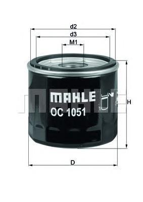 OC1051 Фильтр масляный VOLVO C30/V40/FORD FIESTA/FOCUS/MONDEO/GALAXY/MAZDA 2 03-