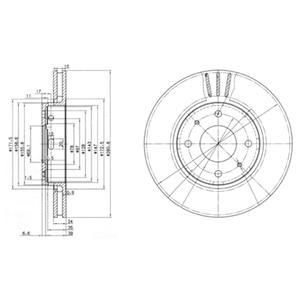 BG3501 Диск тормозной MITSUBISHI CARISMA 00-06/VOLVO S40/V40 передний вент.D=281мм.