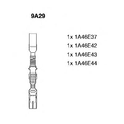 9a29 Комплект проводов зажигания