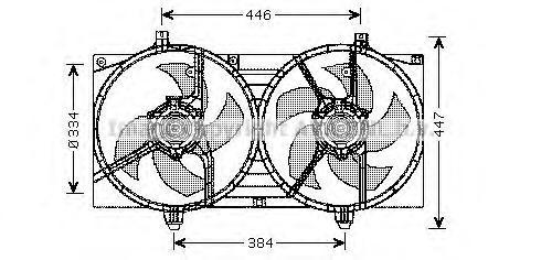 DN7528 Мотор вентилятора в сб N16E P12E QG15 16 18