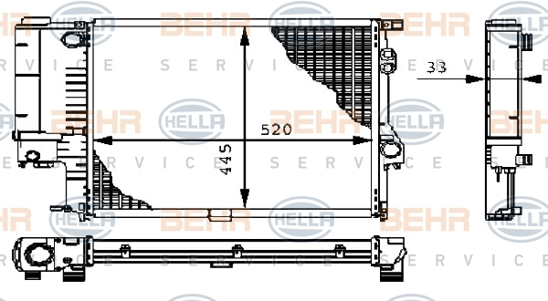 8MK376711121 Радиатор системы охлаждения BMW: 5 (E39) 520 i/523 i/528 i 95-03