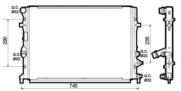 53139 Радиатор VAG 1.2TFSI 10-
