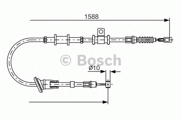 1987482246 Трос ручного тормоза MITSUBISHI CARISMA/LANCER 95-06 прав.
