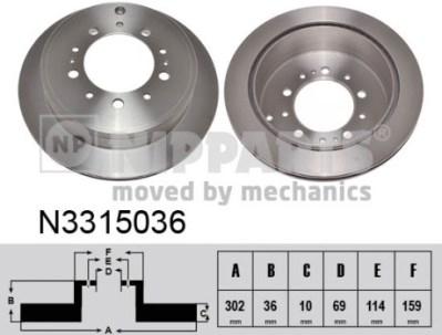 N3315036 Диск тормозной MITSUBISHI OUTLANDER/ASX 12-