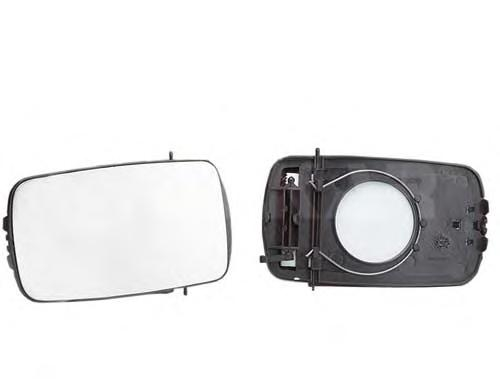 6401383 Стекло зеркала левое, плоское / FORD Fiesta-III 89~