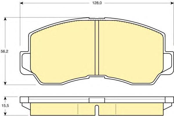 6107859 Колодки тормозные MITSUBISHI GALANT/L300/PAJERO 80-90 передние