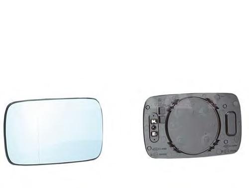 6432849 Стекло зеркала BMW 3 E46 правое с обогревом