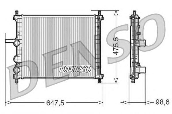 DRM09038 Радиатор системы охлаждения FIAT: MULTIPLA (186) 1.6/1.6 100 16V (186AXA1A)/1.6 16V Bipower (186AMB1A)/1.6 16V Bipower