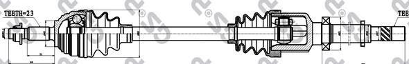 250354 Привод в сборе RENAULT LOGAN/CLIO III 1.4-1.6 04- прав.