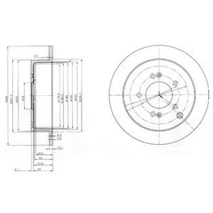 BG3680 Диск тормозной HYUNDAI ix35/SANTA FE (SM)/TRAJET/TUCSON/KIA SPORTAGE 04- задний