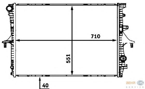 8MK376718791 Радиатор системы охлаждения VW: TOUAREG (7LA, 7L6, 7L7) 5.0 V10 TDI/6.0 W12 02-