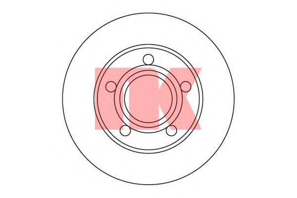 204747 Диск тормозной AUDI 100/200 83-91/A8 94-00 задний D=245мм.