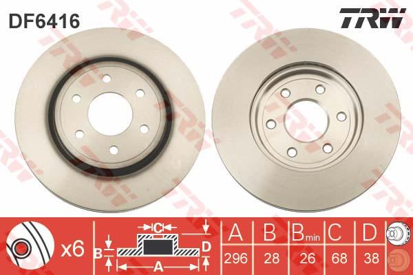 DF6416 Диск тормозной NISSAN PATHFINDER (R51) 05/NAVARA 05 (R16) передний