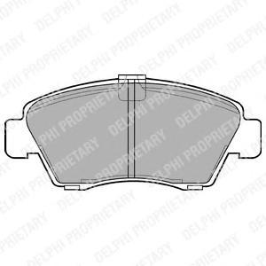 LP810 Колодки тормозные HONDA CIVIC 1.3-1.6 91-01/JAZZ 1.2/1.4 02- передние