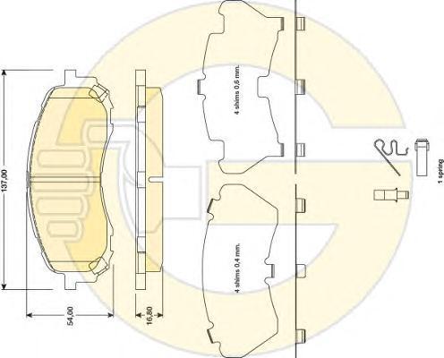 6134699 Колодки тормозные SUBARU IMPREZA 00- передние