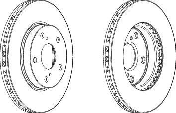 DDF1789 Диск тормозной TOYOTA AURIS (Японская сборка) 1.4/1.6 07- передние вент.