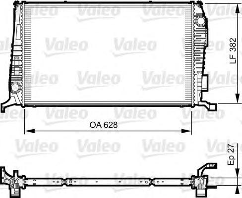 735279 Радиатор системы охлаждения DACIA: DUSTER 1.5 DCI/1.5 DCI 4X4 10- RENAULT: DUSTER 1.5 DCI 11-